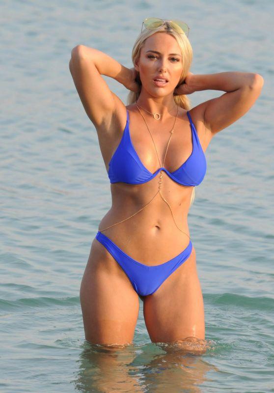 Amber Turner - Bikini on Beach in Dubai, March 2018