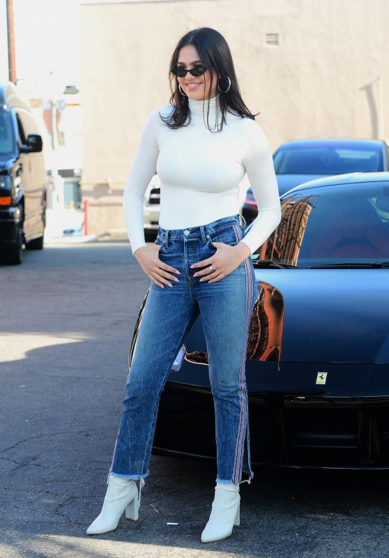 Amelia Hamlin at Her Hudson Jeans Billboard Launch in West Hollywood