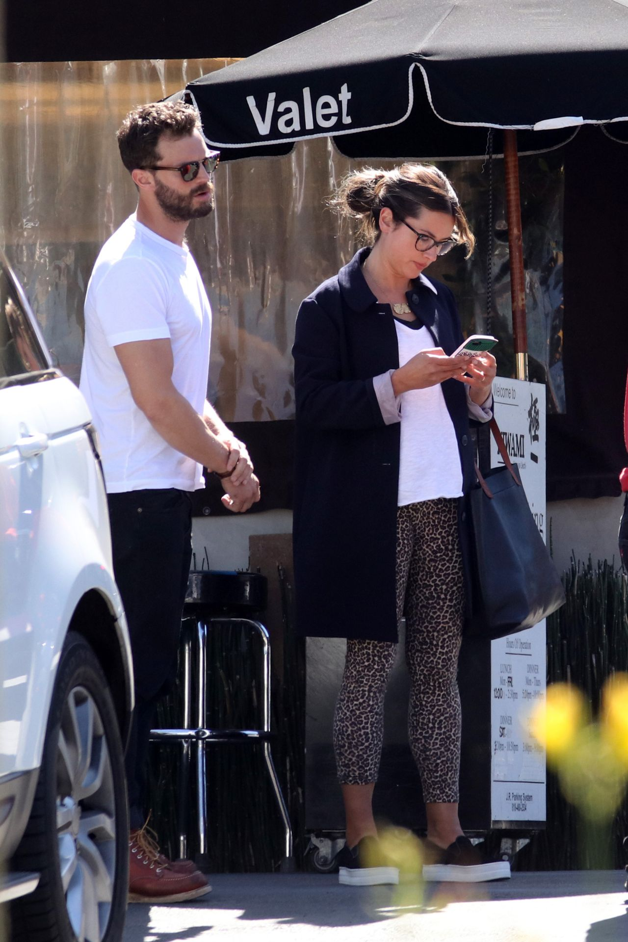 amelia warner and jamie dornan at katsuya restaurant in