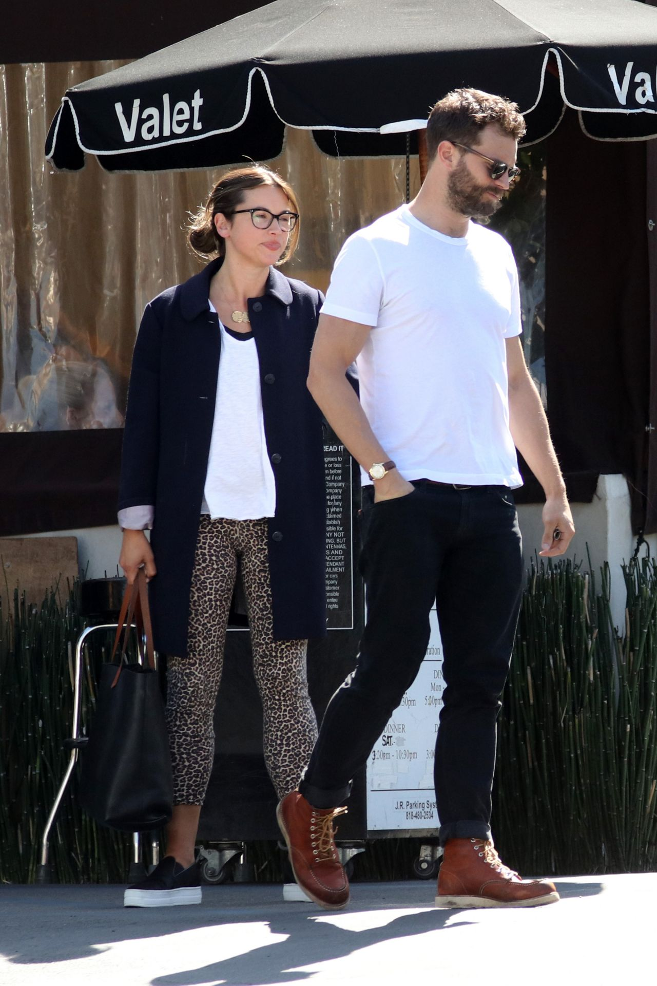 Amelia Warner and Jamie Dornan at Katsuya Restaurant in ...