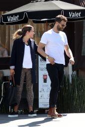 Amelia Warner and Jamie Dornan at Katsuya Restaurant in Los Angeles, March 2018
