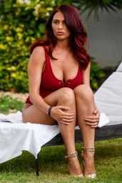 Amy Childs in Swimsuit - Poolside in Sal, Cape Verde