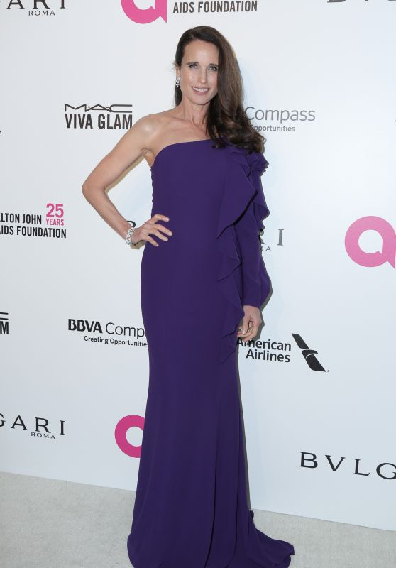 Andie MacDowell – Elton John AIDS Foundation's Oscar 2018 Viewing Party in West Hollywood