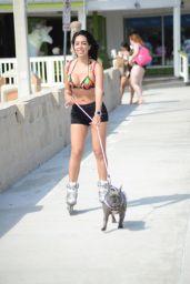 Andrea Calle - Rollerblading in Miami