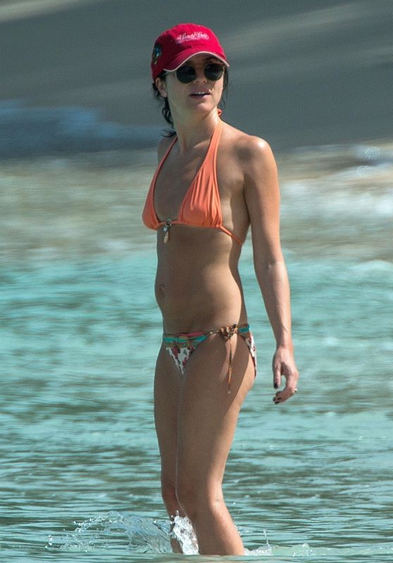 Andrea Corr in Bikini at the Beach in Bridgetown 03/28/2018