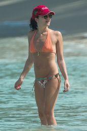 Andrea Corr in Bikini at the Beach in Bridgetown 03/28/2018