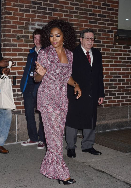 Angela Bassett - The Late Show With Stephen Colbert in NYC 03/13/2018