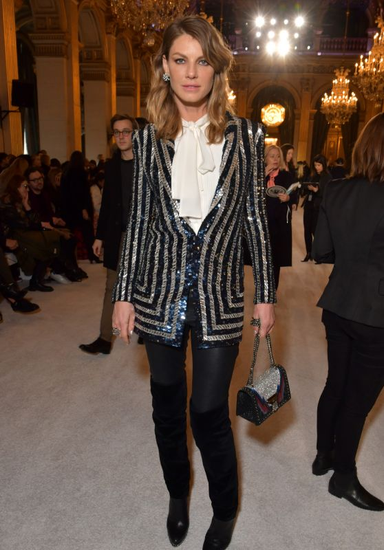 Angela Lindvall – Balmain Show FW18 in Paris