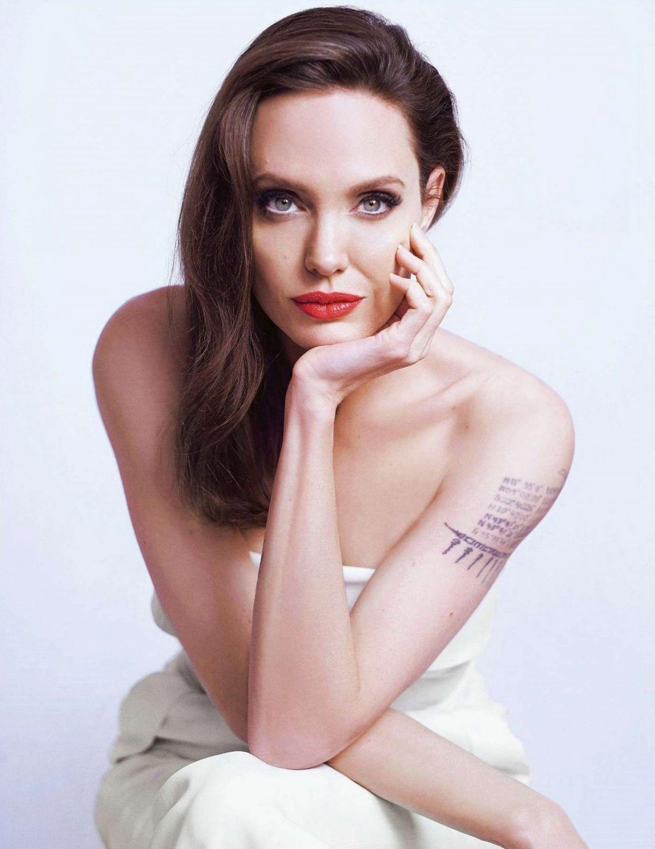 Angelina Jolie Photoshoot For Mon Guerlain 2018