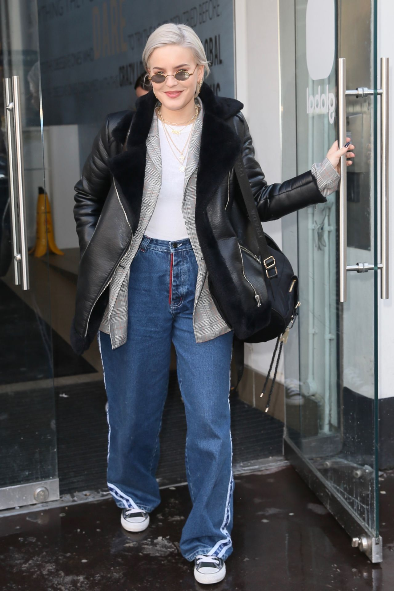 Anne Marie In Casual Outfit Leaving Global Studios In