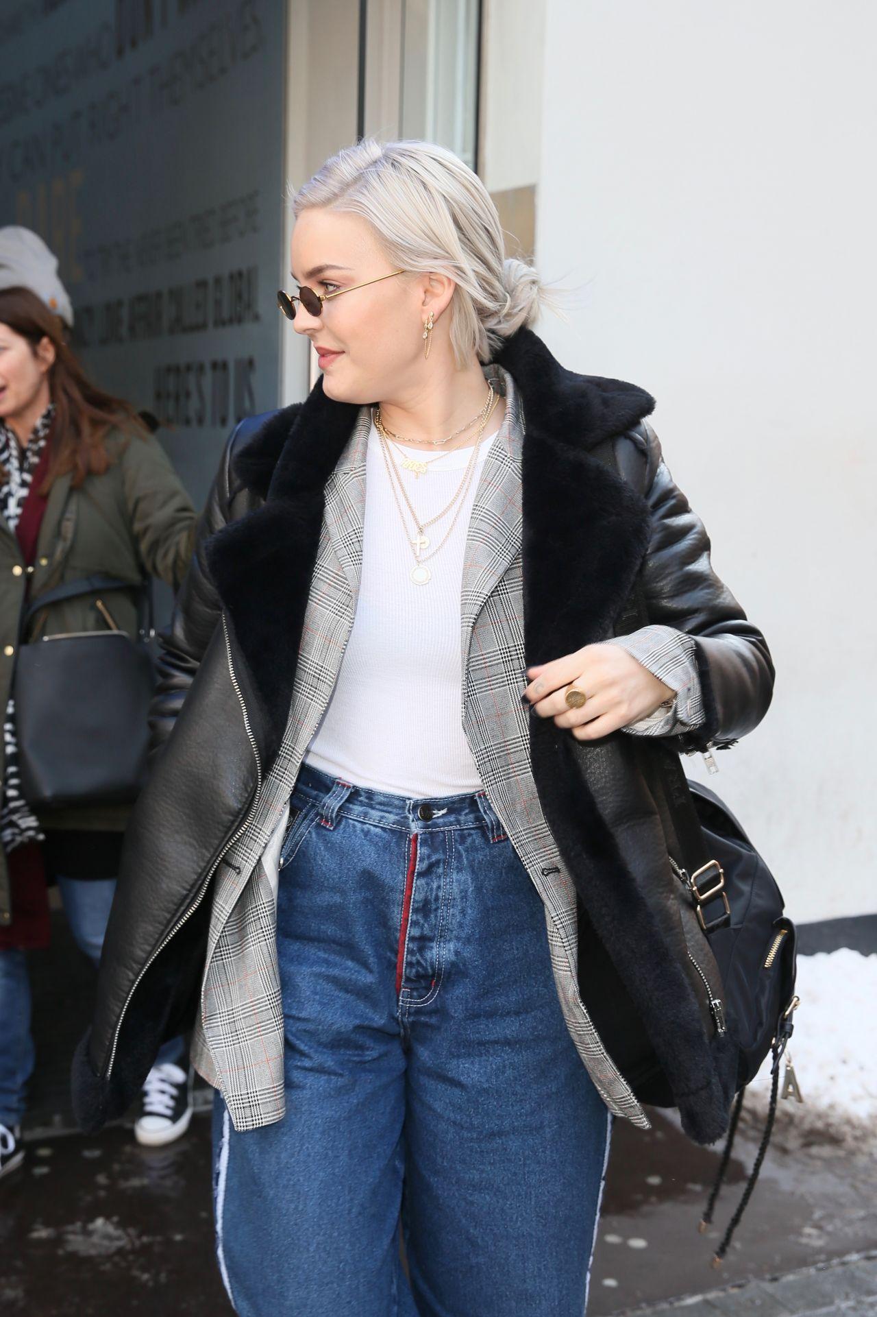 Anne Marie In Casual Outfit Leaving Global Studios In
