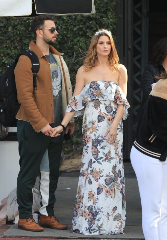 Ashley Greene and Fiance Paul Khoury - Melrose Place in Los Angeles 03/03/2018