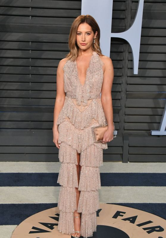 Ashley Tisdale – 2018 Vanity Fair Oscar Party in Beverly Hills