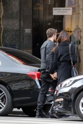 Belen Rodriguez and Andrea Lannone - Leaving Their Hotel in Paris, March 2018