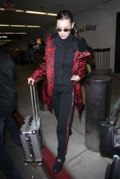 Bella Hadid at LAX Airport in Los Angeles 03/12/2018