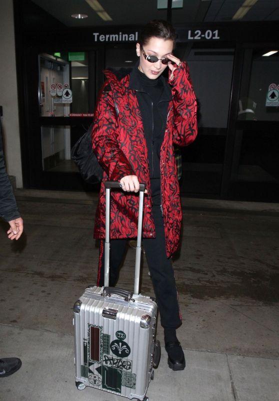 Bella Hadid at LAX Airport in Los Angeles 03/12/2018