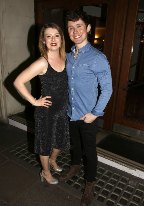 """Beth Lilly - """"The Play That Goes Wrong"""" at The Duchess Theatre in London 03/28/2018"""