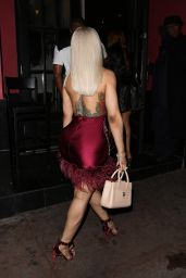 Blac Chyna in Red and Silver - Beverly Hills 03/14/2018