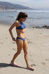 Blanca Blanco in a Blue Bikini - Walk Along the Beach in Malibu 03/13/2018