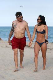 Bre Tiesi in Bikini on the Beach in Miami, March 2018