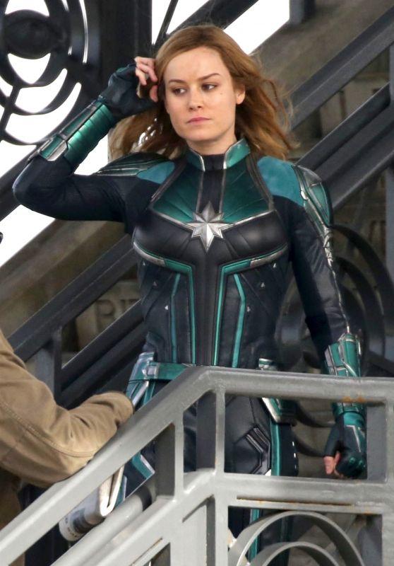 "Brie Larson - ""Captain Marvel"" Set in Los Angeles 03/19/2018"