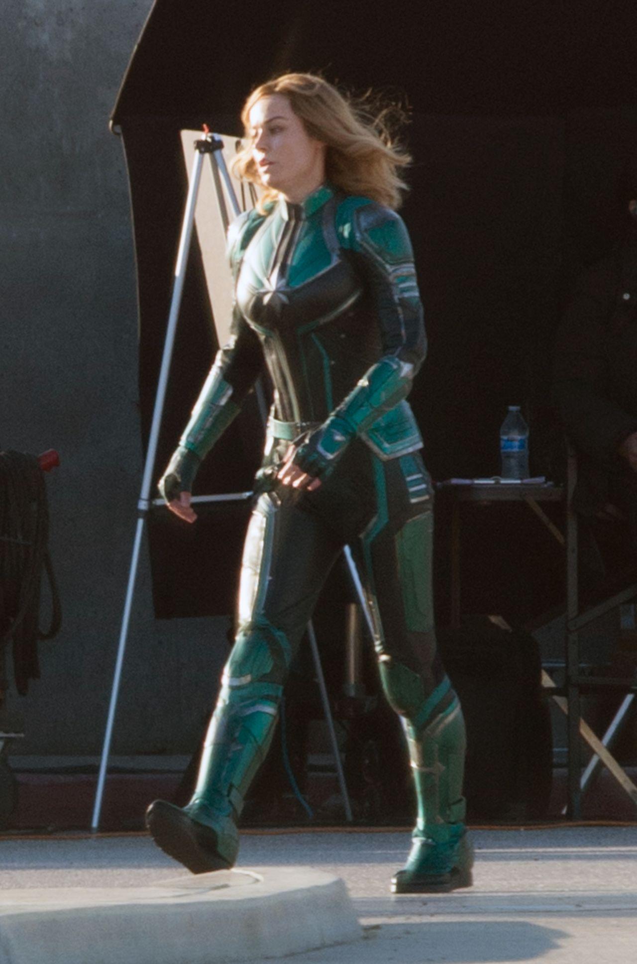 Brie Larson Quot Captain Marvel Quot Set In Los Angeles 03 19 2018