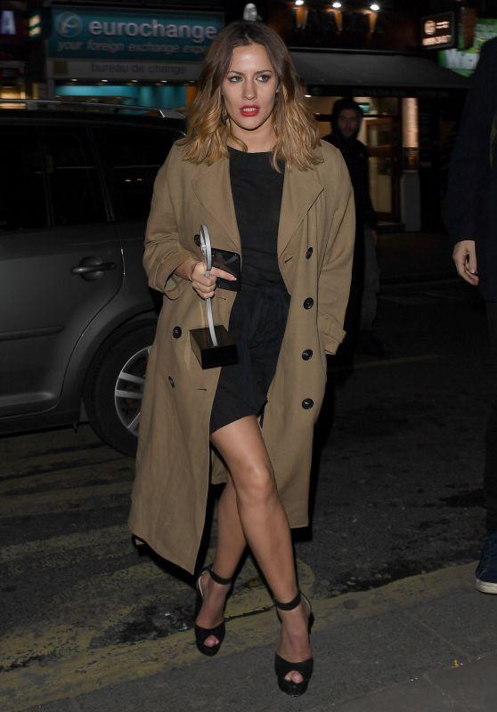 Caroline Flack - Leaving a Kylie Minogue Gig in London