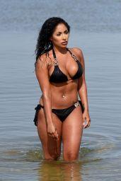 Chanelle Sadie Paul in Bikini on the Beach in Murcia