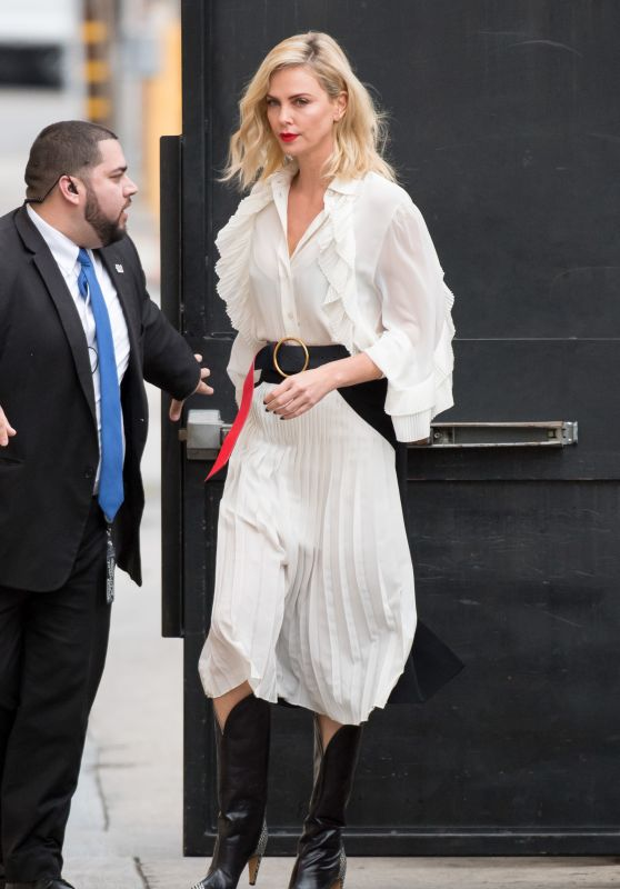 Charlize Theron Arriving to Appear on Jimmy Kimmel Live! in Hollywood 03/07/2018