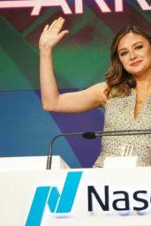 Christine Evangelista - Rings the Nasdaq Opening Bell at NASDAQ MarketSite in NYC