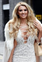 Christine McGuinness is Stylish in White Dress - Manchester 03/07/2018