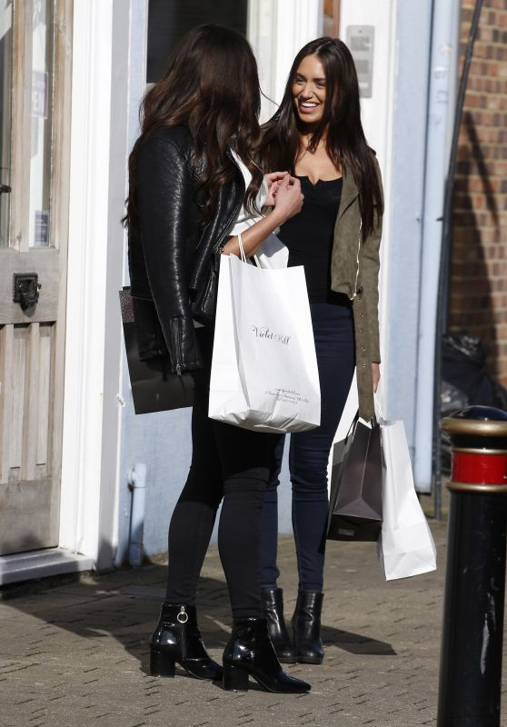 Clelia Theodorou and Shelby Tribble Shopping in Brentwood 03/21/2018