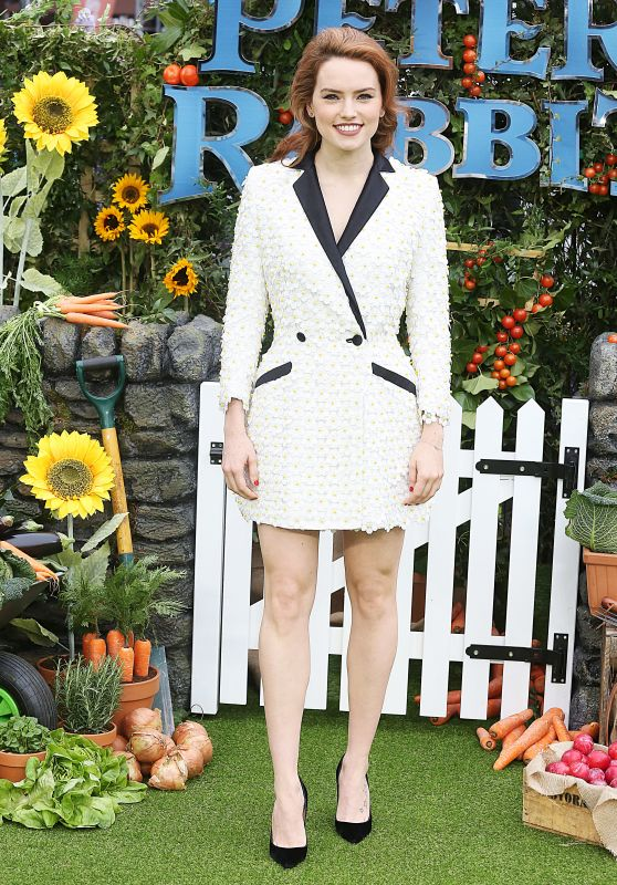 "Daisy Ridley – ""Peter Rabbit"" Premiere in London"