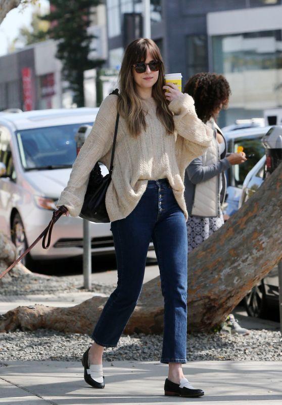 Dakota Johnson - Shopping and Drinking Coffee in LA 03/01/2018