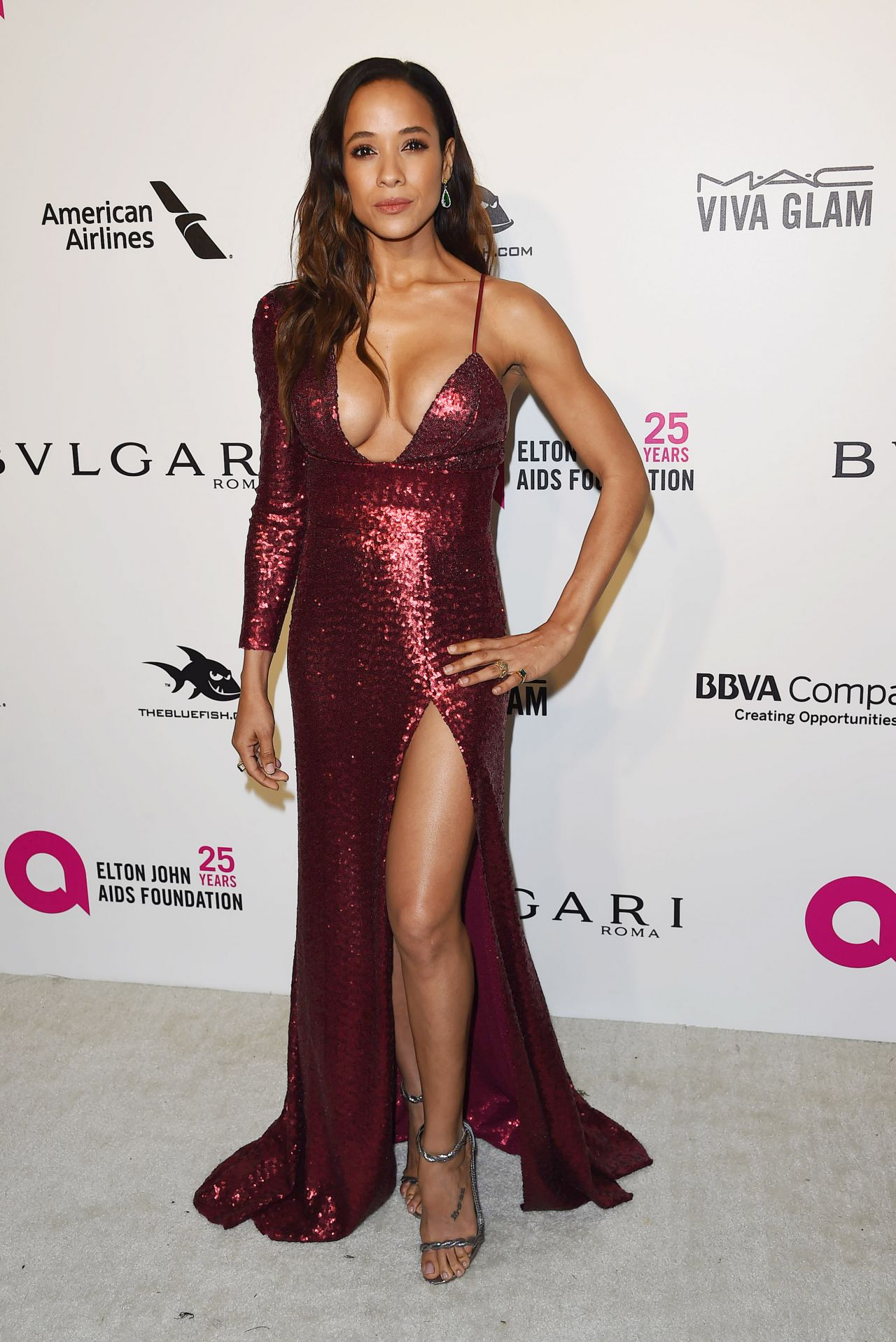 Dania Ramirez Elton John Aids Foundation S Oscar 2018 Viewing Party In West Hollywood