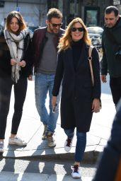 Daniele Bossari, Filippa Lagerback and Stella Bossari - Milan 03/26/2018