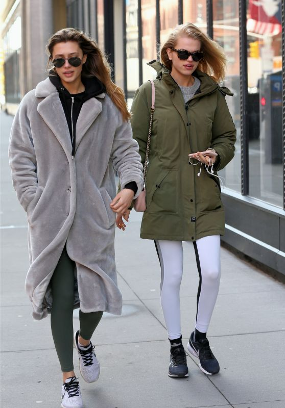 Daphne Groeneveld With a Female Friend - Out in New York City 03/05/2018