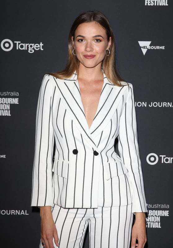 Demi Harman – GQ Mens Fashion at the Virgin Australia Melbourne Fashion Festival 03/09/2018