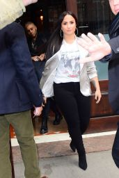 Demi Lovato - Leaving Her Hotel in NYC 03/16/2018