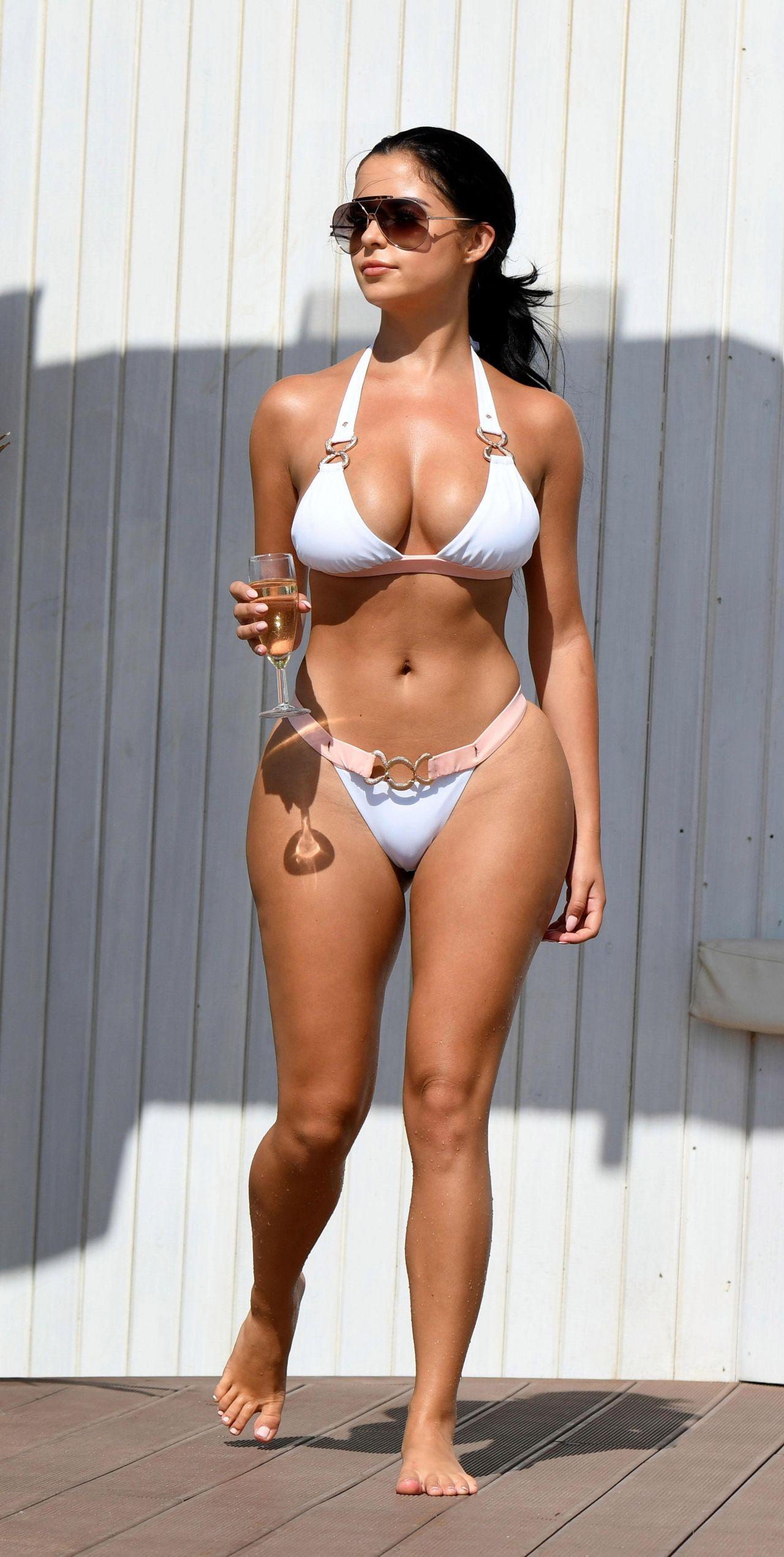 Demi Rose In A White Bikini In Cape Verde-3237