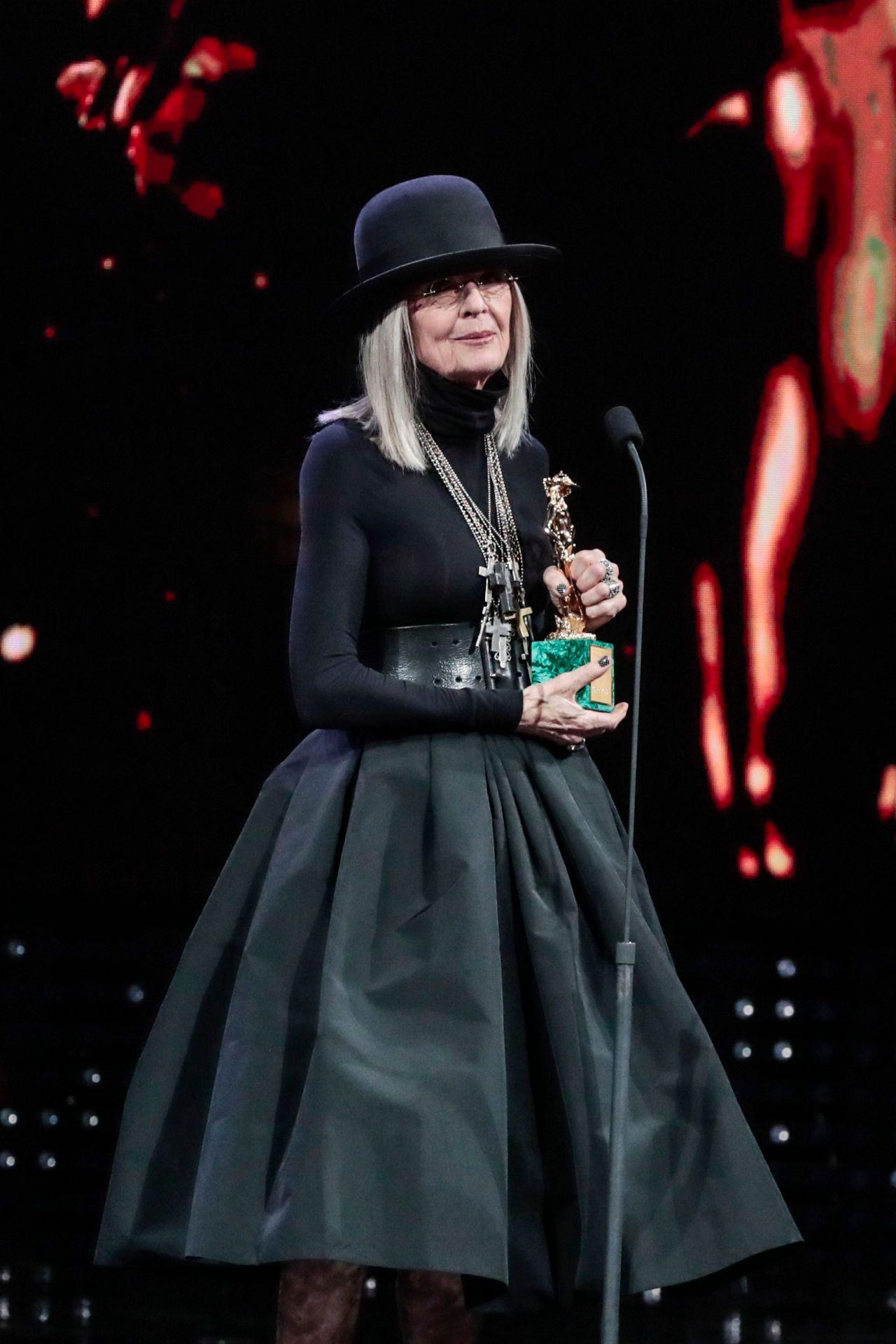 diane keaton  u2013 2018 david di donatello awards in rome