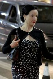 Dita Von Teese at LAX in Los Angeles 03/28/2018