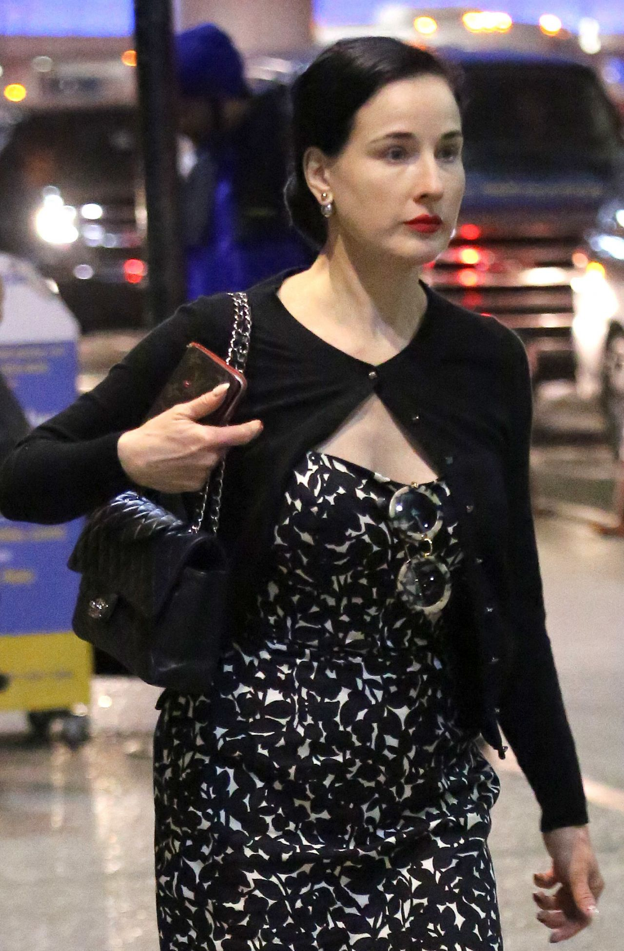 eea3fa412c1 Dita Von Teese at LAX in Los Angeles 03 28 2018