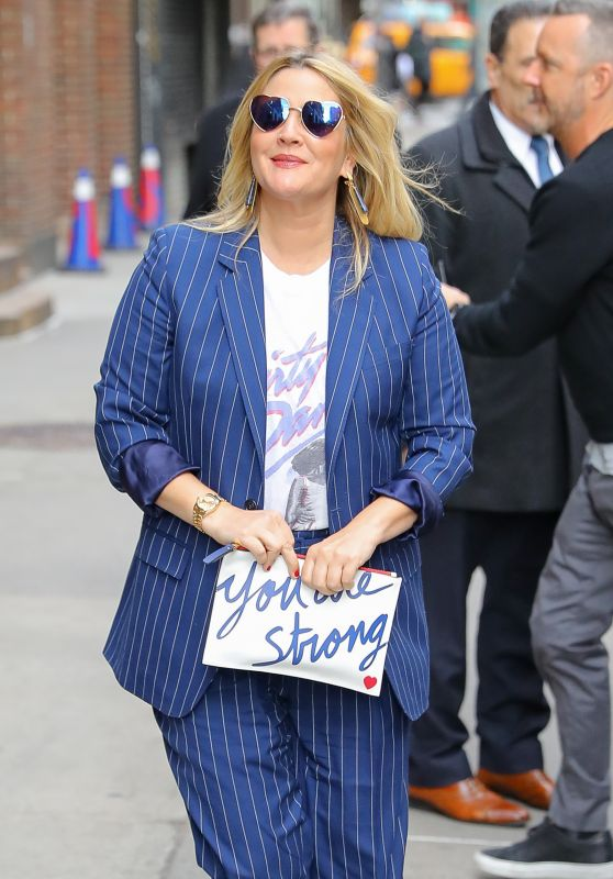 "Drew Barrymore - ""The Late Show with Stephen Colbert"" in NYC 03/19/2018"