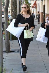 Elizabeth Berkley Street Style - Shopping in Los Angeles 03/27/2018
