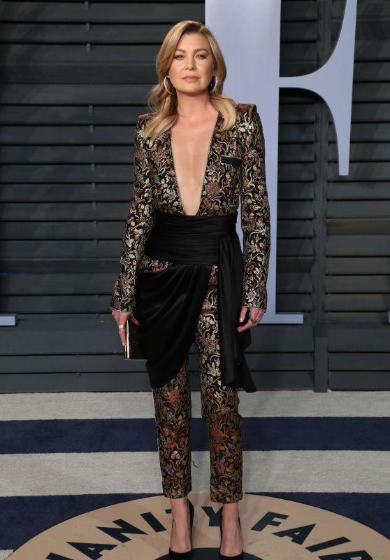 Ellen Pompeo – 2018 Vanity Fair Oscar Party in Beverly Hills