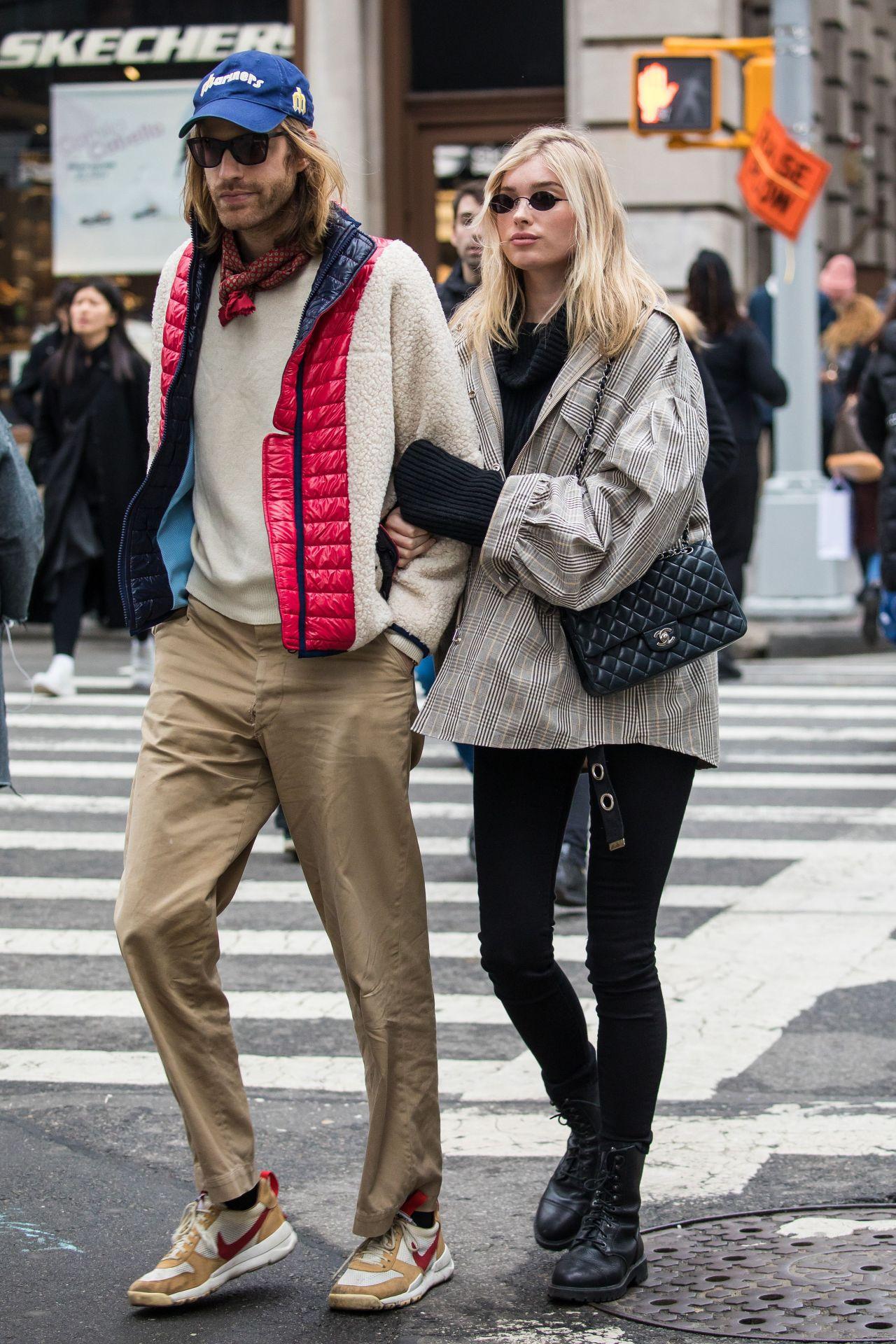 Elsa Hosk and Tom Daly Seen NYC 03/29/2018 • CelebMafia