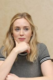 """Emily Blunt - """"A Quiet Place"""" Press Conference in Austin"""