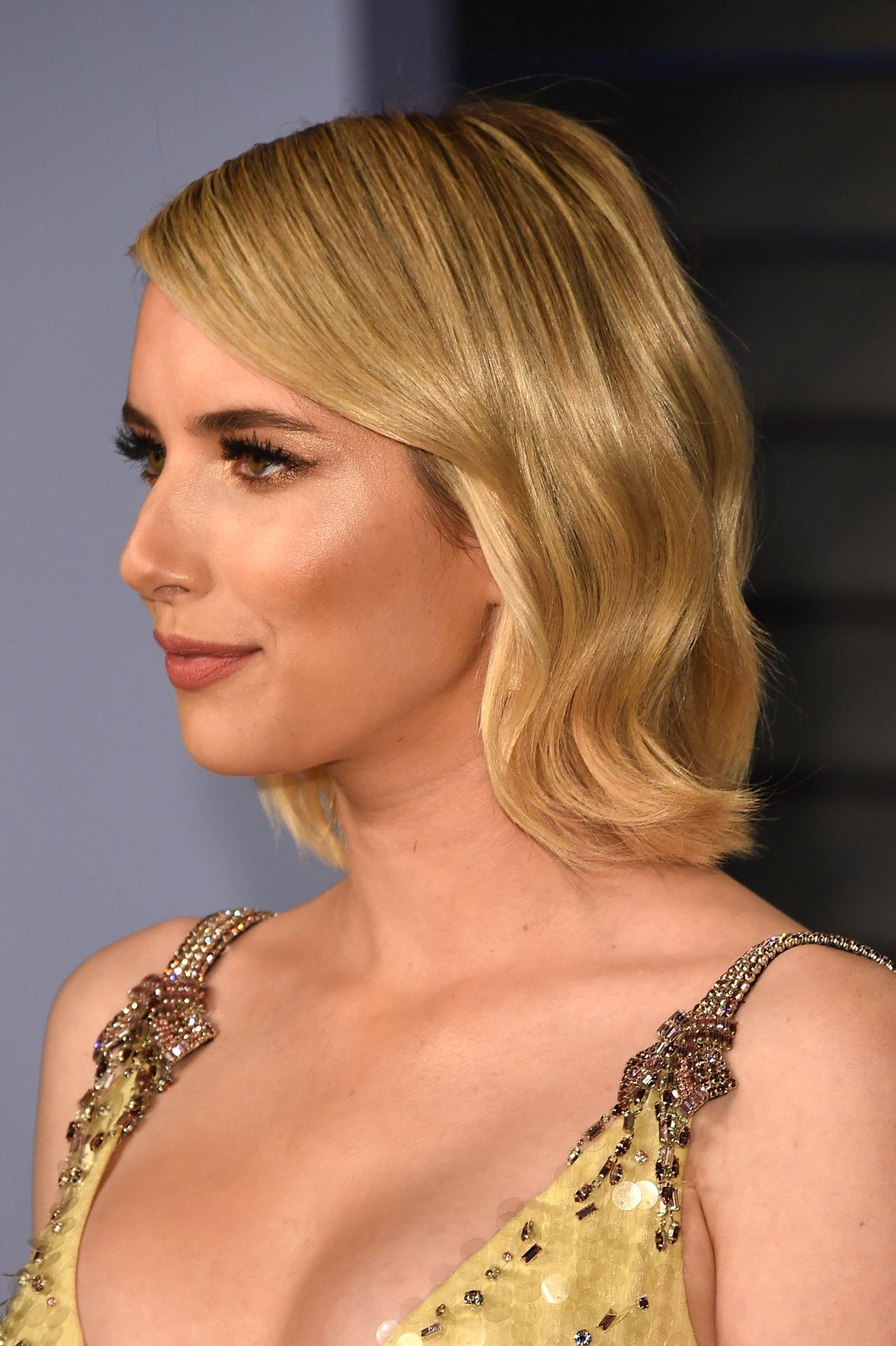 Emma Roberts 2018 Vanity Fair Oscar Party In Beverly Hills Celebmafia