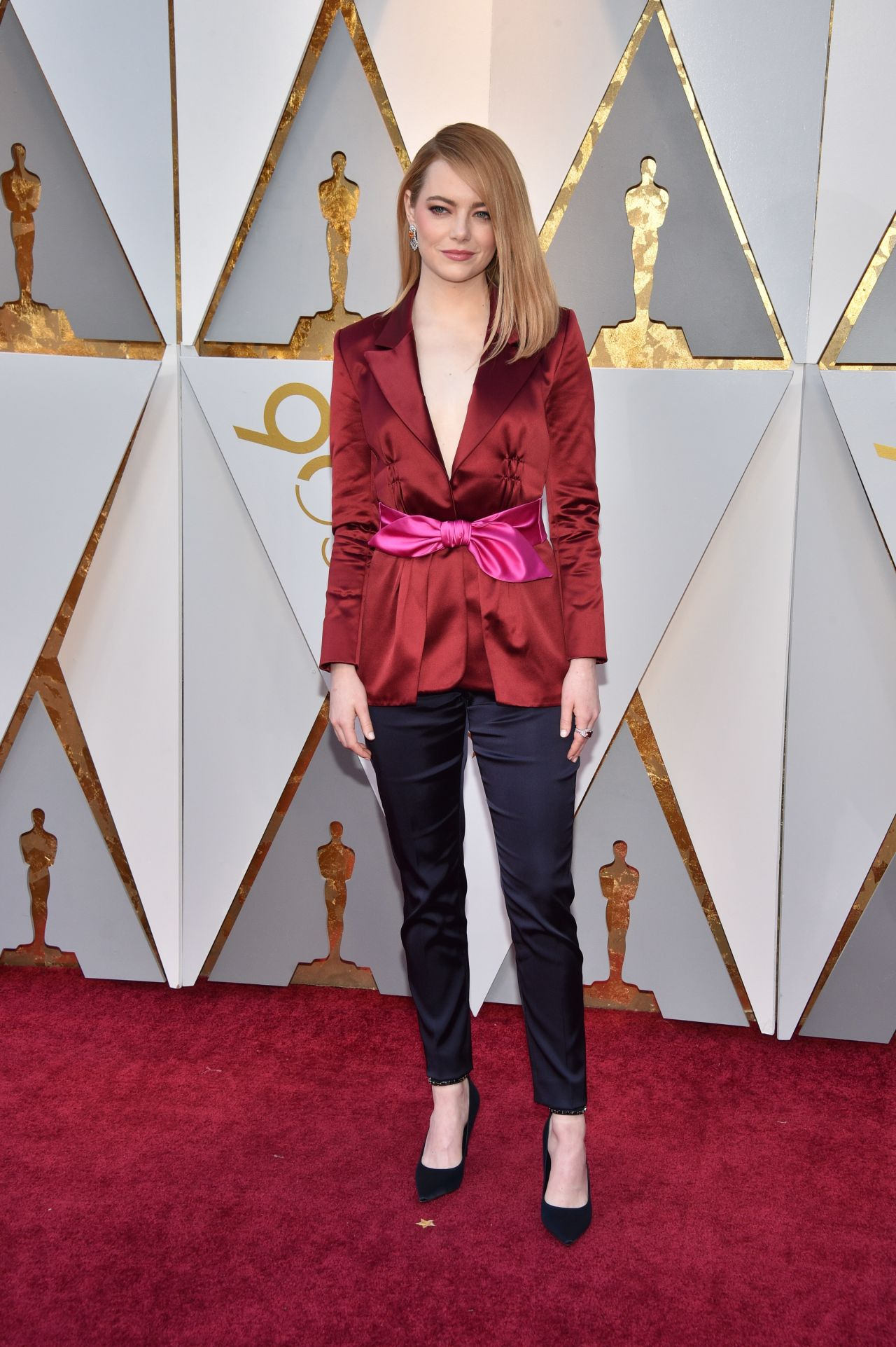 Emma Stone Oscars 2018 Red Carpet